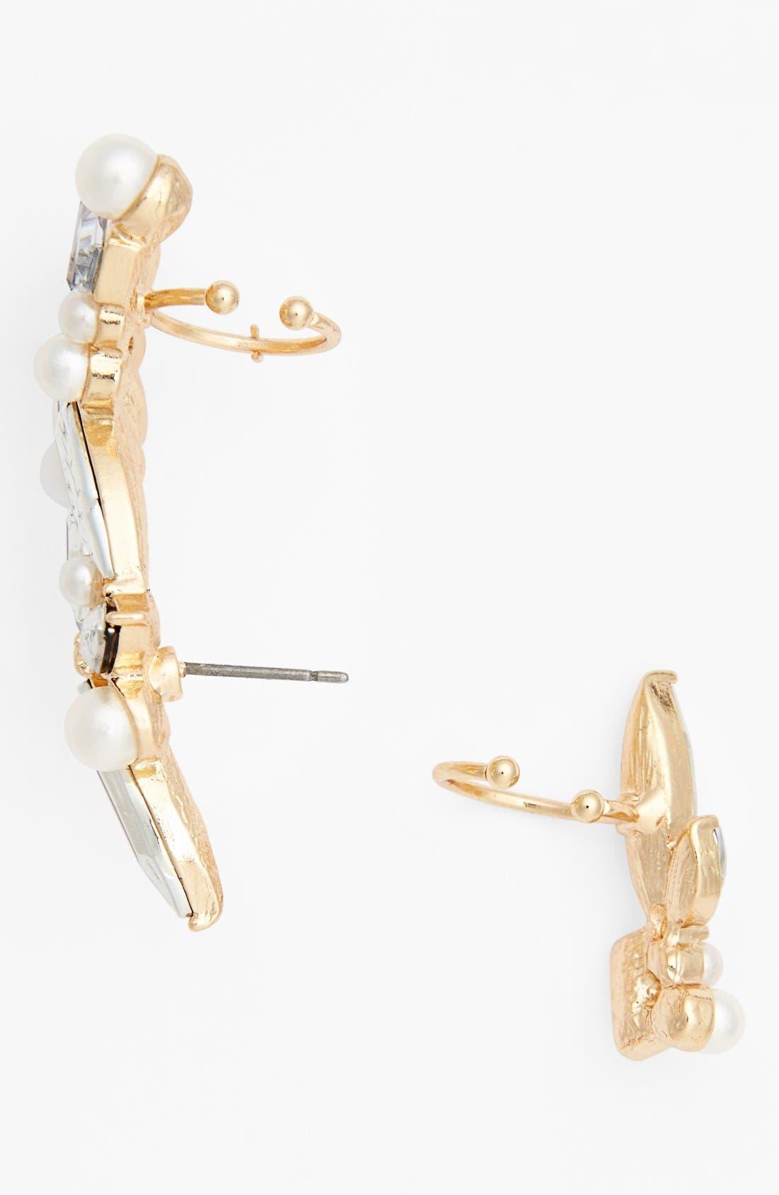 Alternate Image 2  - Cara Crystal Ear Cuff & Stud Earring