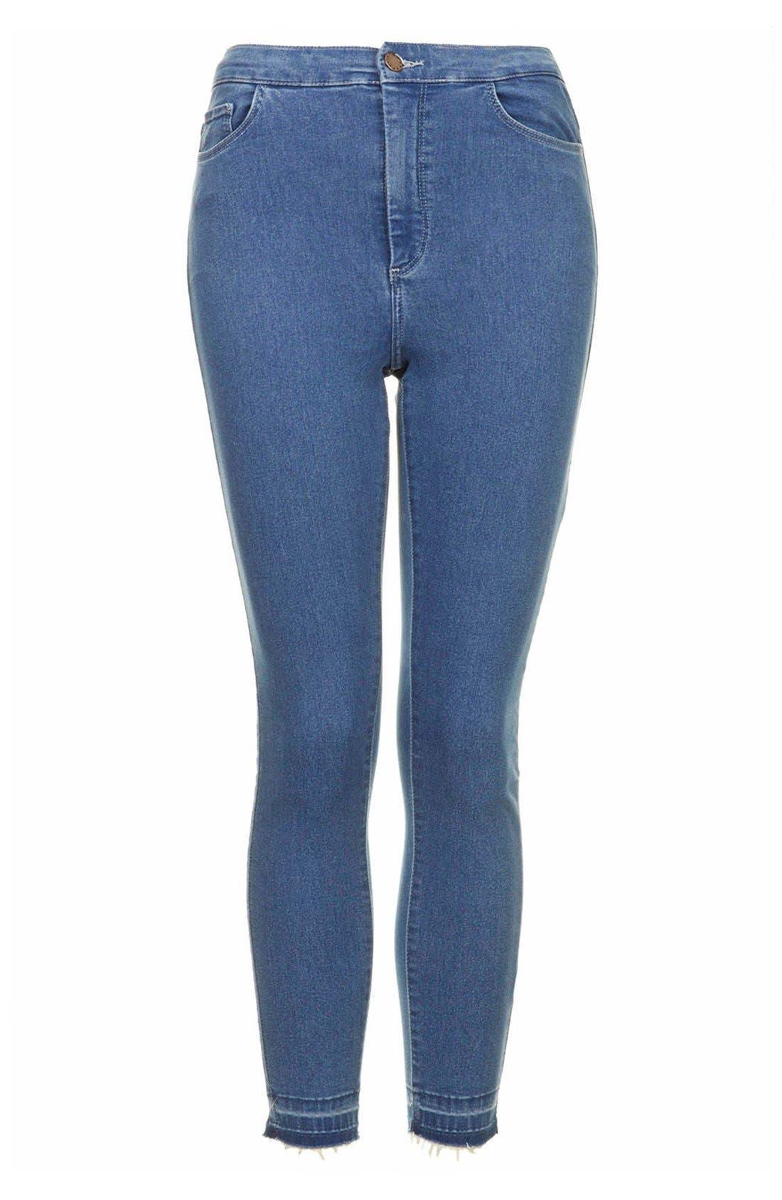 Alternate Image 3  - Topshop Moto 'Joni' High Rise Crop Skinny Jeans (Light)