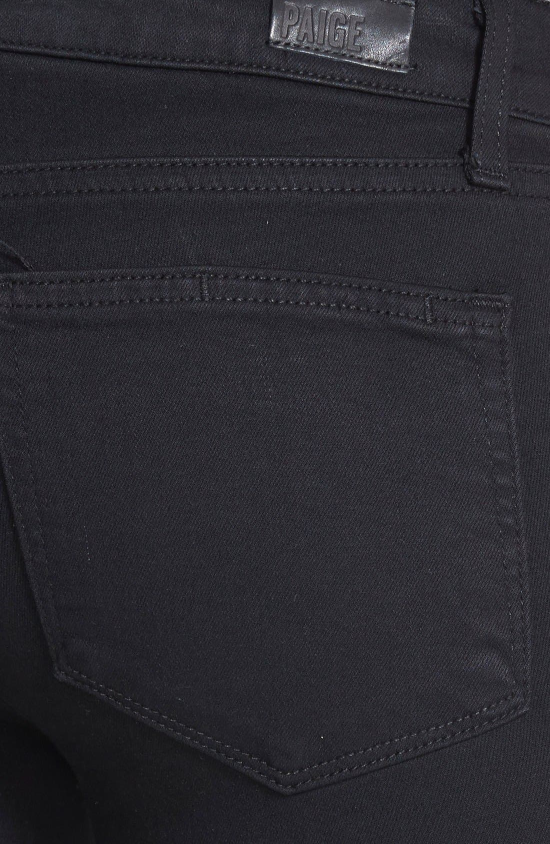 Transcend - Edgemont Ultra Skinny Jeans,                             Alternate thumbnail 3, color,                             Black Shadow