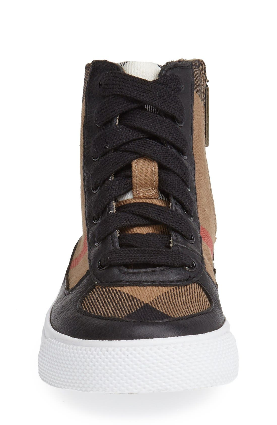 Alternate Image 3  - Burberry 'Merrison' High Top Sneaker (Walker, Toddler, Little Kid & Big Kid)