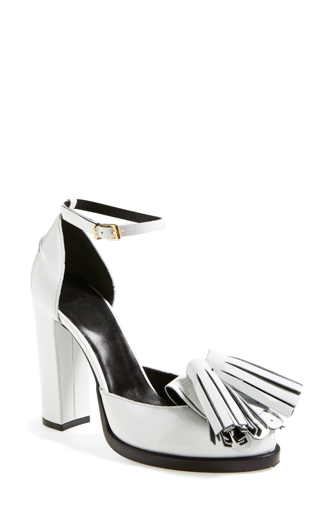 Alternate Image 1 Selected - MSGM Ankle Strap Pump (Women)