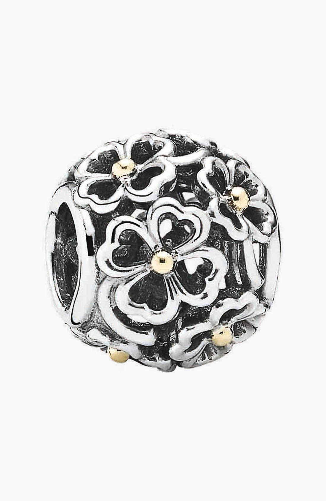 Alternate Image 1 Selected - PANDORA 'Evening Floral' Bead Charm