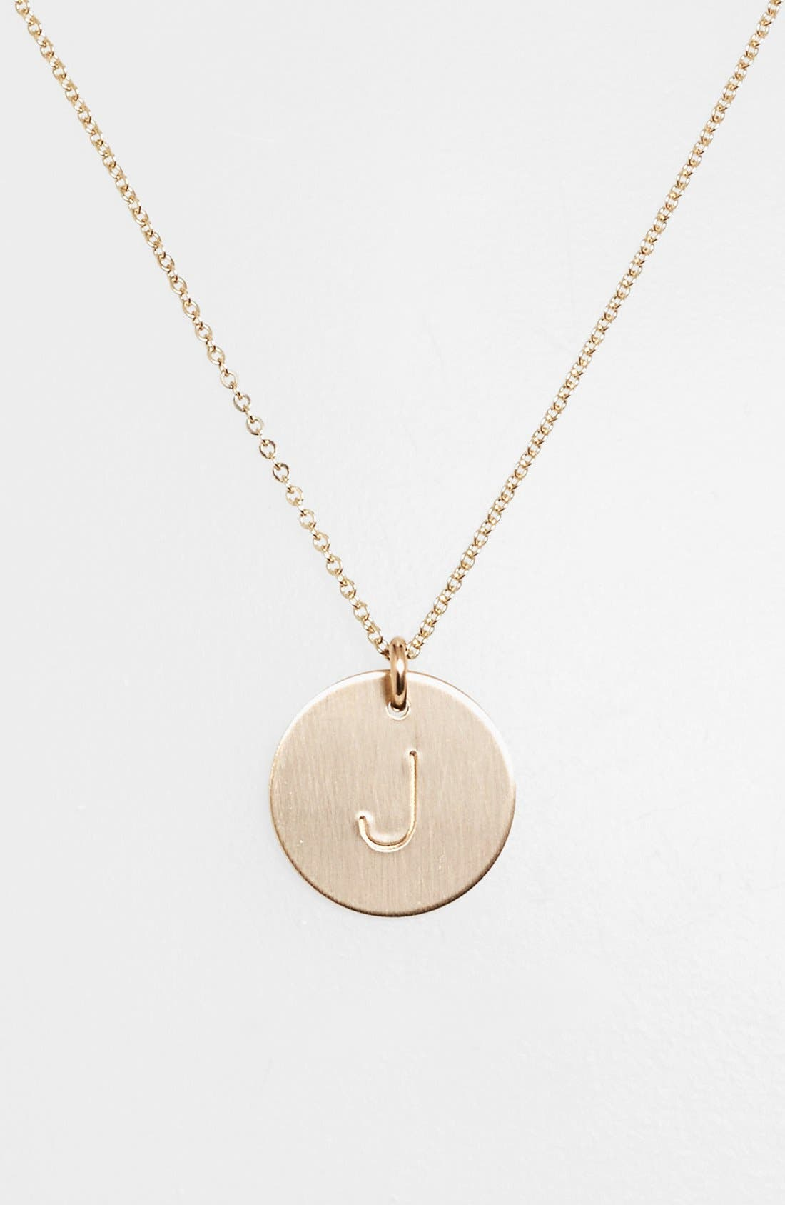 Main Image - Nashelle 14k-Gold Fill Initial Disc Necklace