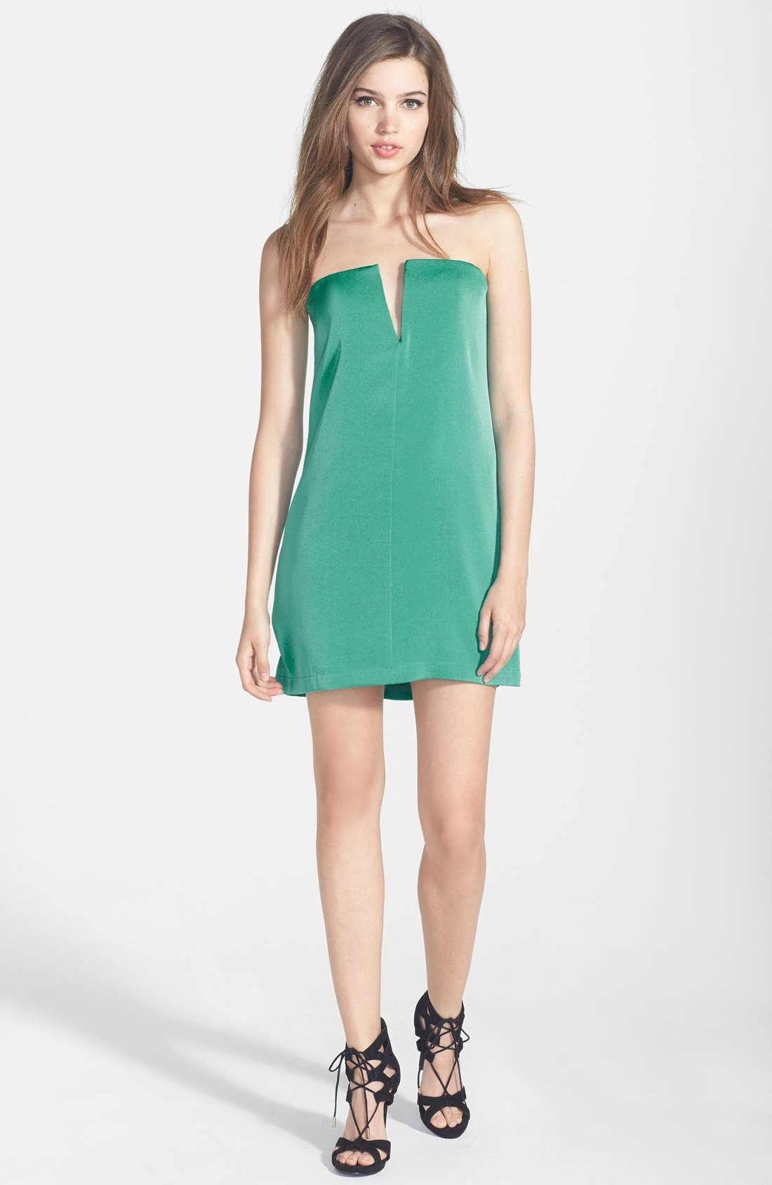 Alternate Image 3  - BCBGMAXAZRIA 'Nahara' Strapless Crêpe de Chine Dress