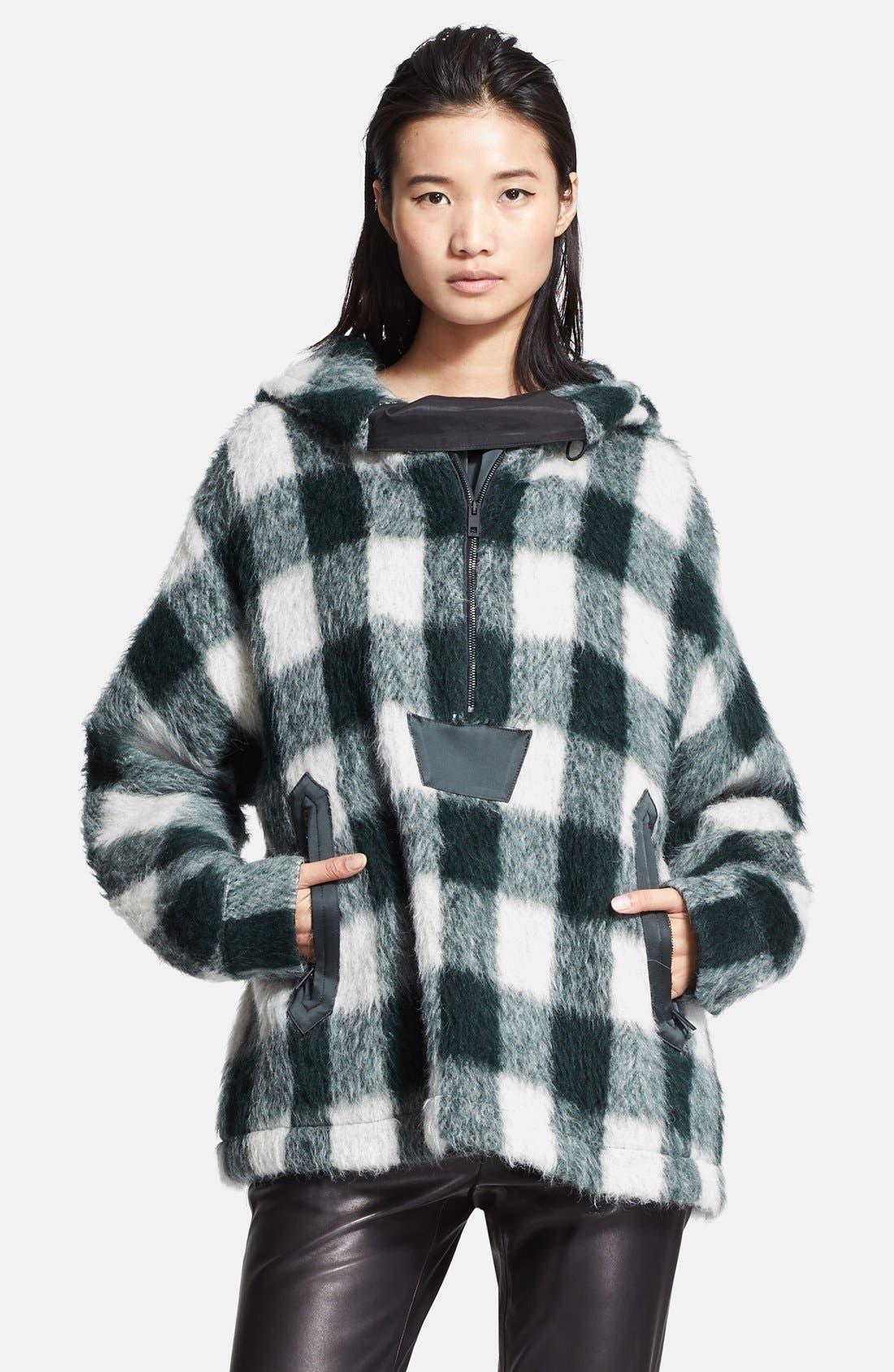 Main Image - rag & bone 'Falkland' Hooded Mohair Check Parka