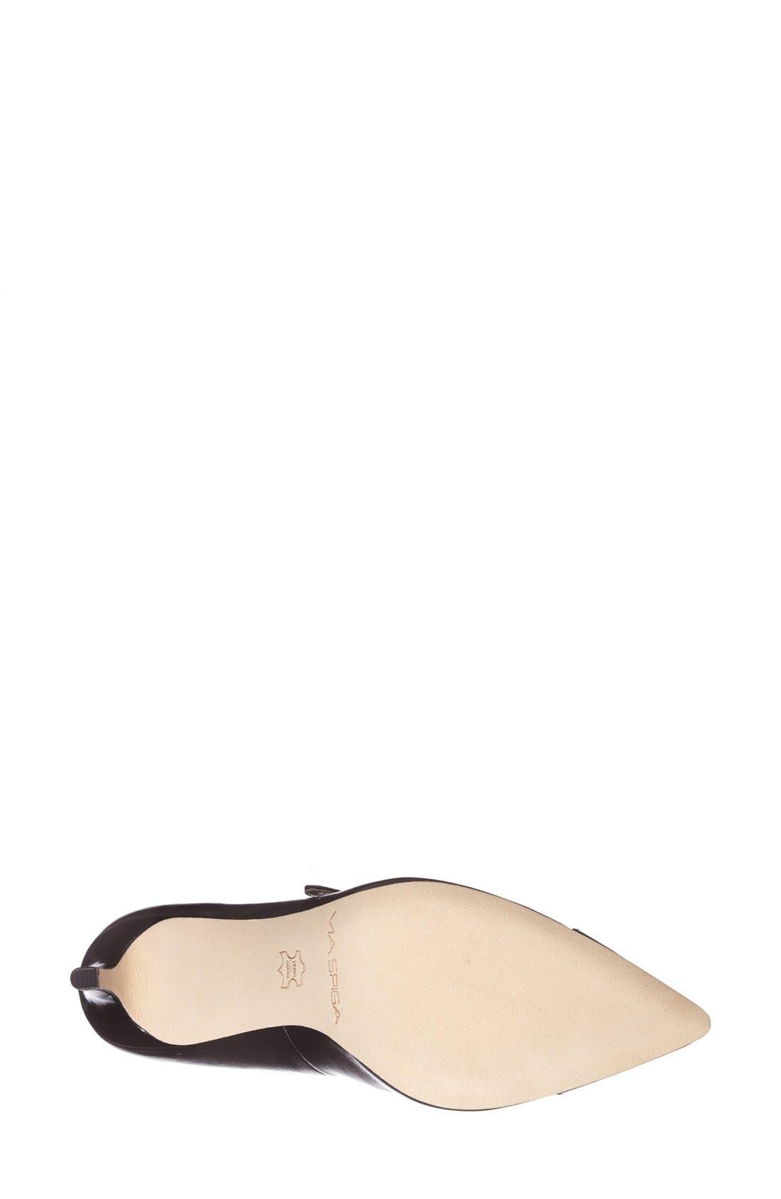 Alternate Image 4  - Via Spiga 'Cindee' Pointy Cap Toe Pump (Women)