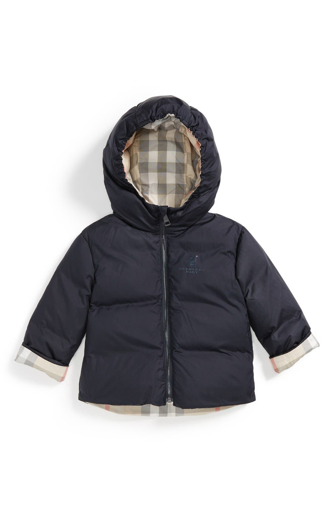 Burberry Reversible Hooded Down Coat (Baby Girls)