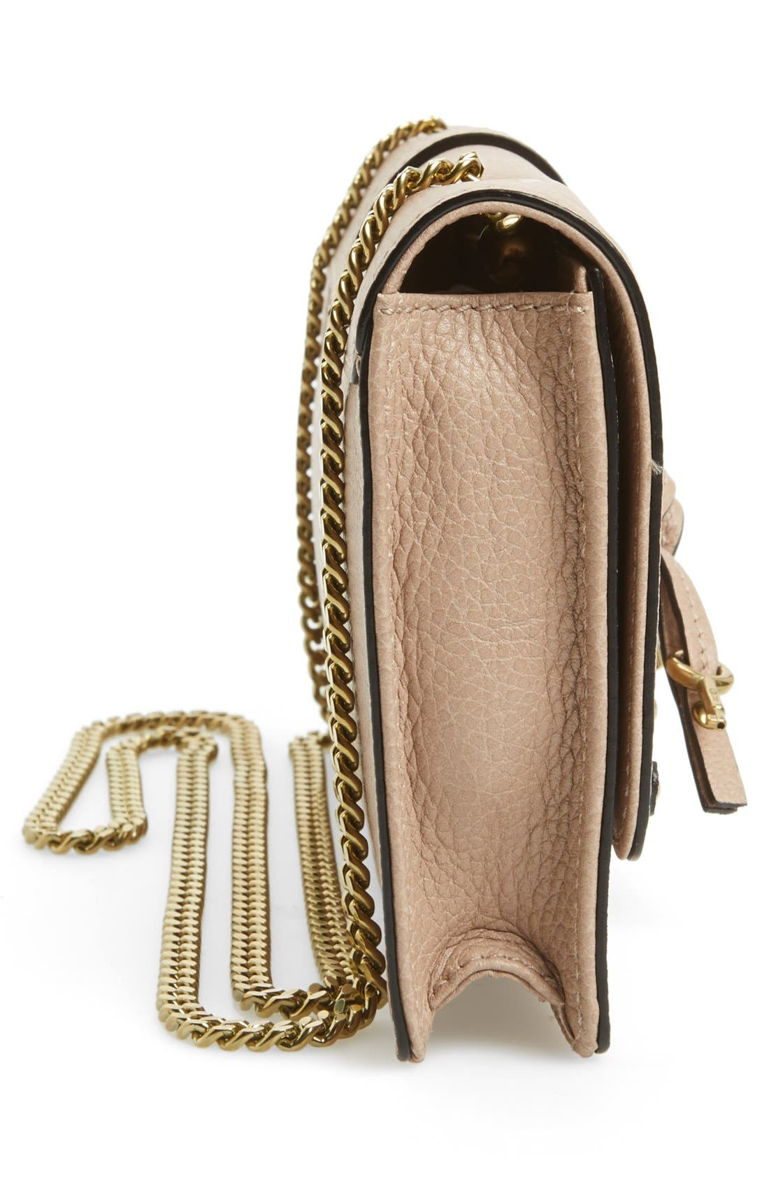Alternate Image 5  - Chloé 'Aurore' Calfskin Leather Wallet on a Chain