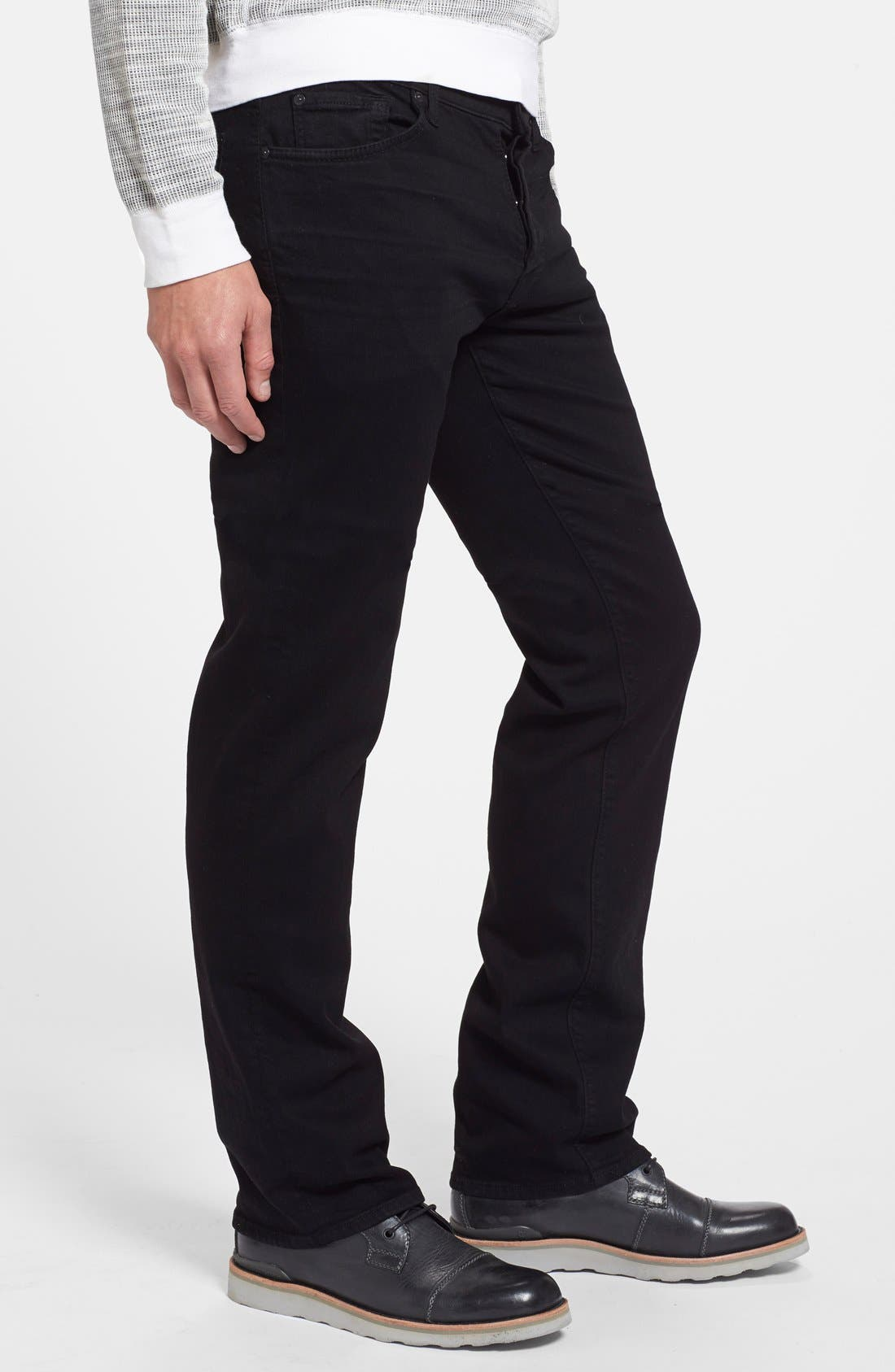 Alternate Image 3  - 7 For All Mankind® The Standard - Luxe Performance Straight Leg Jeans (Nightshade Black)