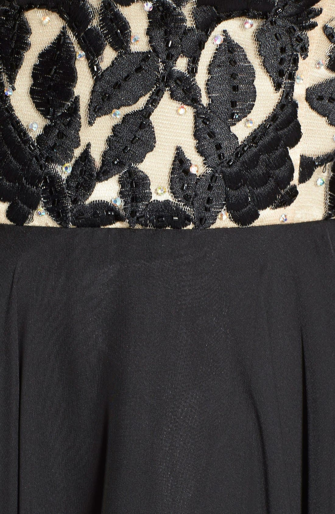 Alternate Image 3  - Sherri Hill Embroidered Bodice Strapless Chiffon Gown