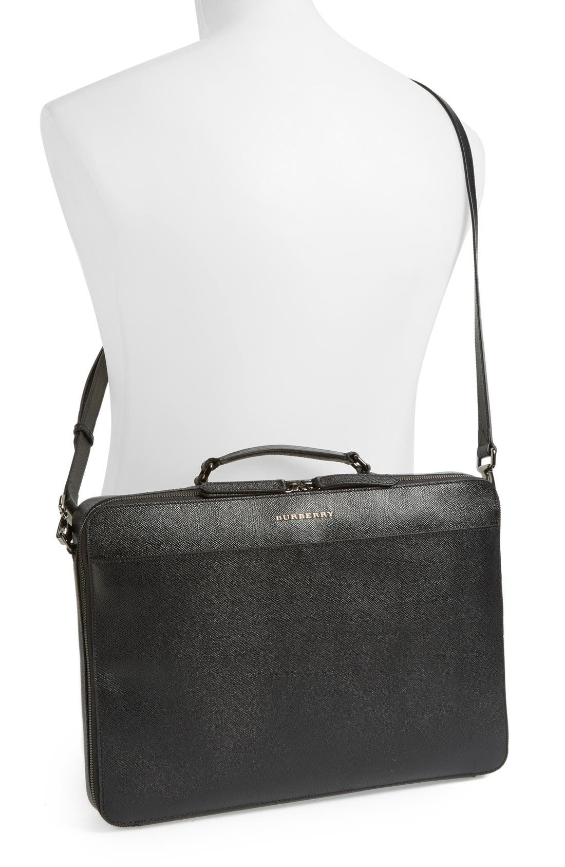 Alternate Image 2  - Burberry 'Blackmore' Leather Computer Briefcase