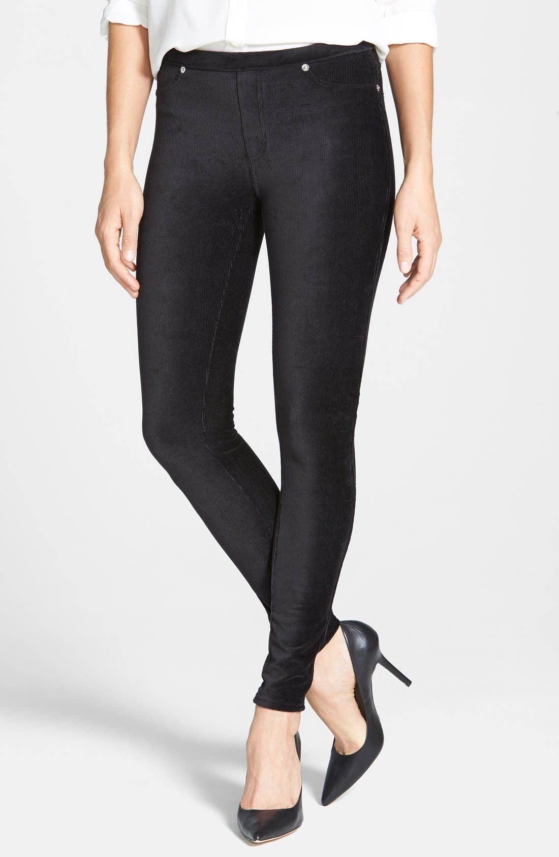 Alternate Image 1 Selected - MICHAEL Michael Kors Stretch Corduroy Leggings (Regular & Petite)