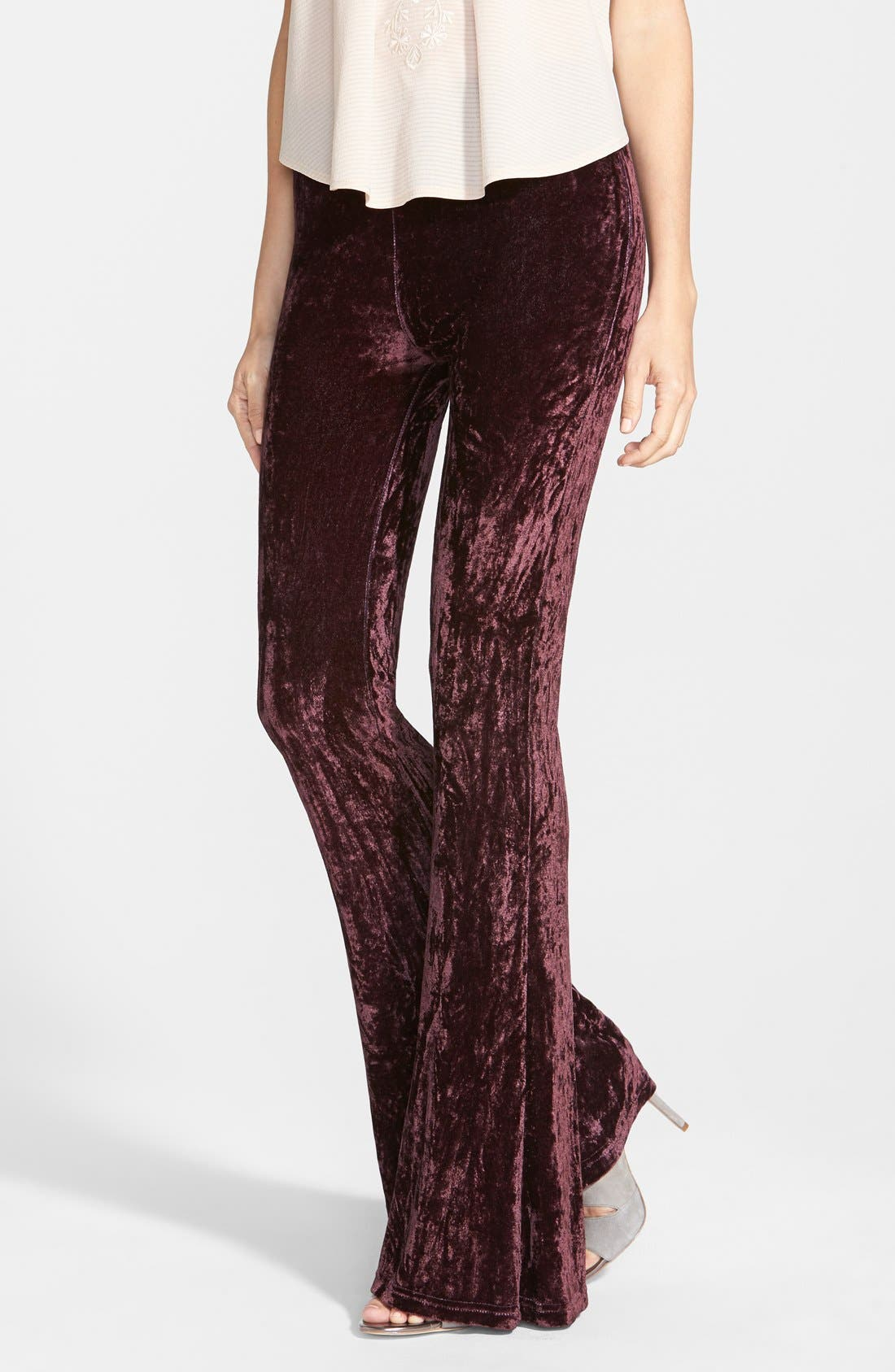 Alternate Image 1 Selected - Raga Velour Bell Bottom Pants