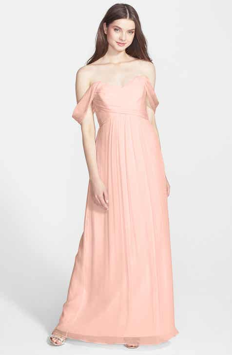 Am Convertible Crinkled Silk Chiffon Gown
