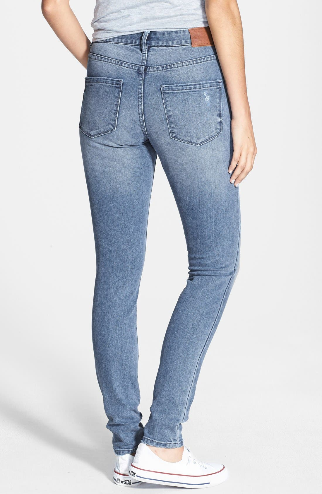 Alternate Image 2  - Billabong 'Night Hawks' Skinny Jeans (Light Wash) (Juniors)