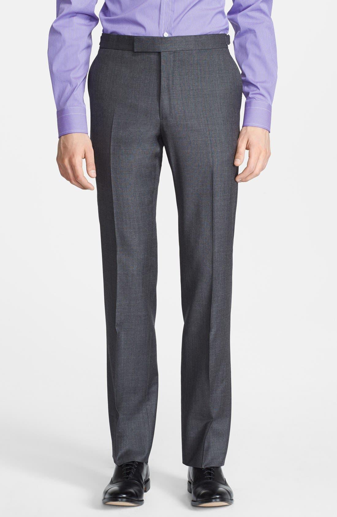 Alternate Image 4  - Ralph Lauren Black Label Trim Fit Grey Wool Suit