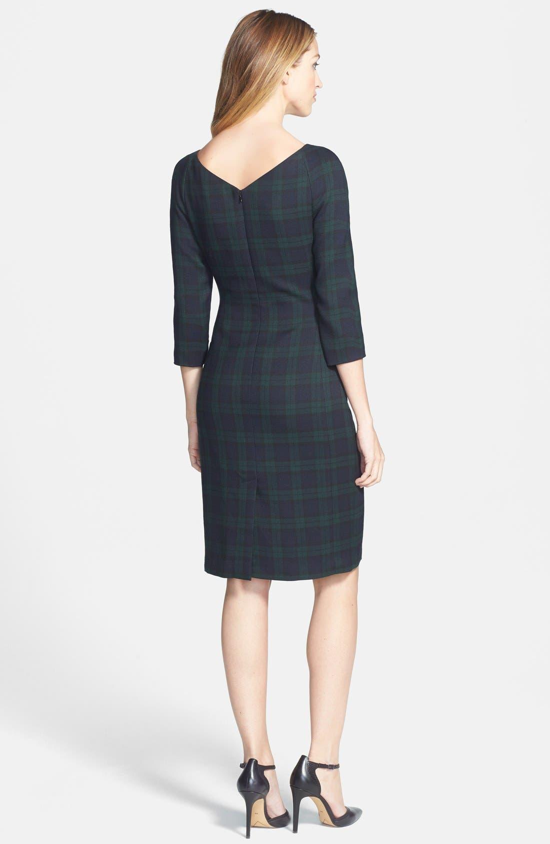 Alternate Image 2  - Anne Klein Plaid Sheath Dress