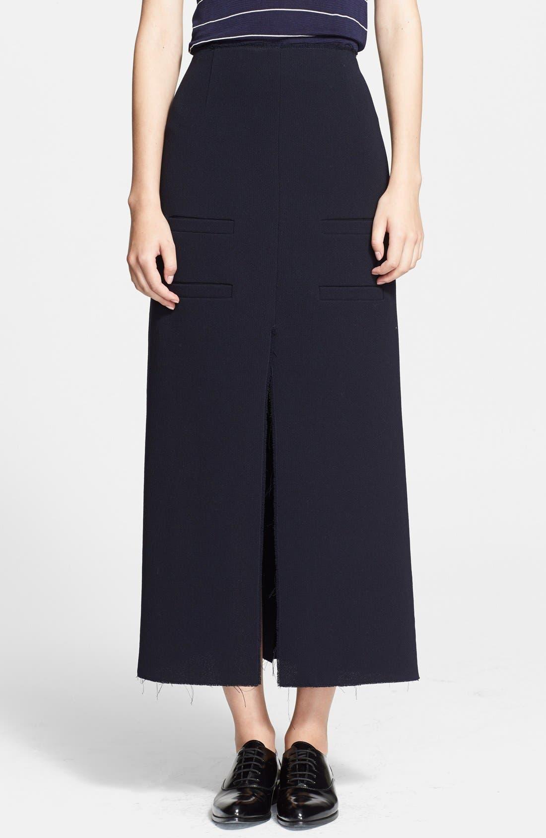 Main Image - J.W.ANDERSON Stretch Crepe Midi Skirt