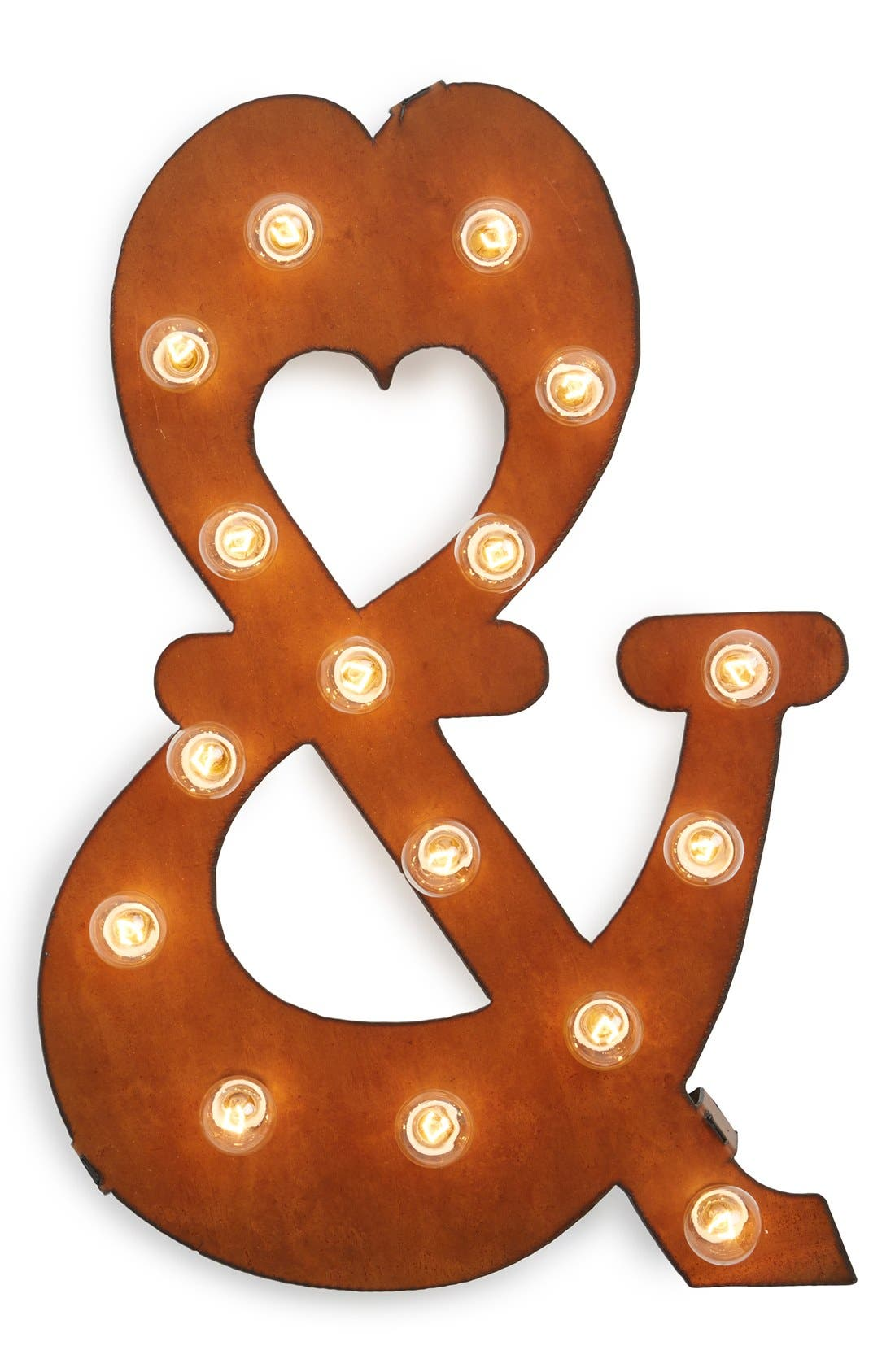 Main Image - Universal Ironworks 'Marquee Lights - Ampersand' Recycled Metal Sign