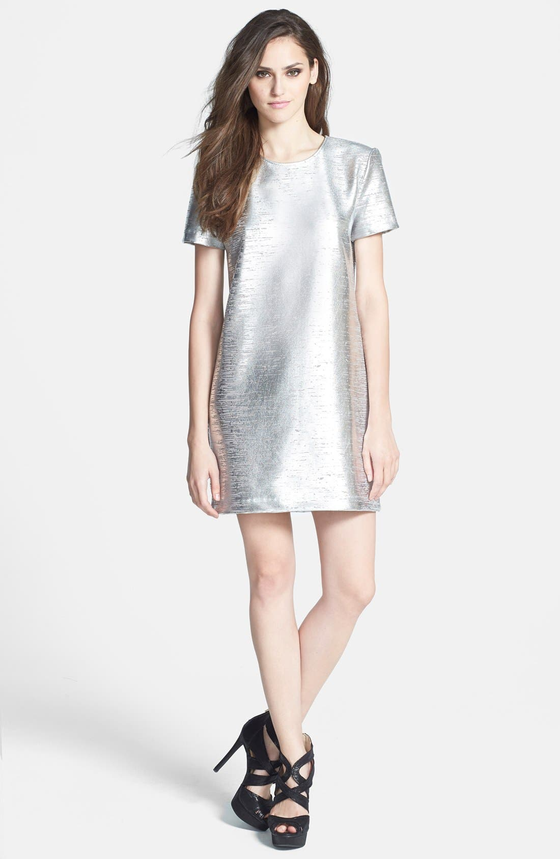 Alternate Image 1 Selected - WAYF Metallic Minidress