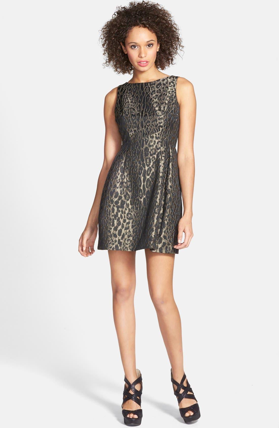 Alternate Image 3  - Alexia Admor Sleeveless Jacquard Fit & Flare Dress