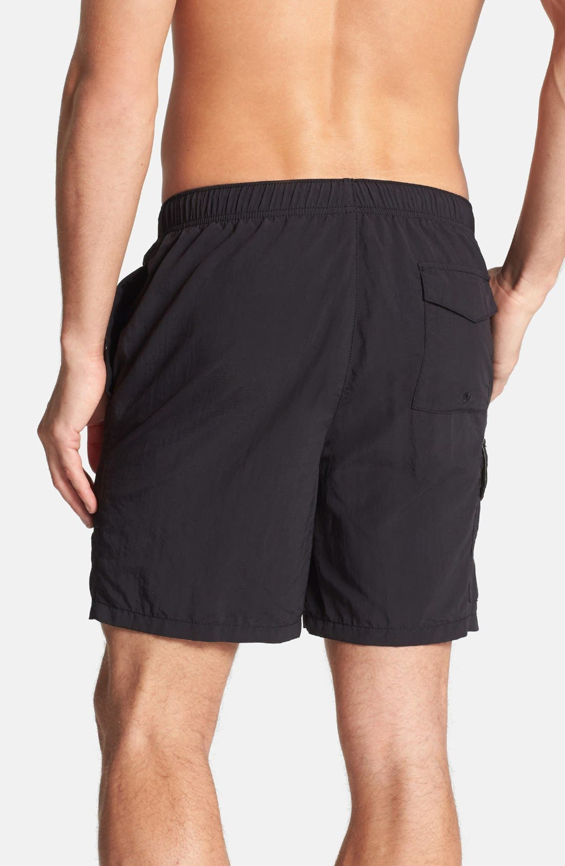 Naples Happy Go Cargo Swim Trunks,                             Alternate thumbnail 2, color,                             Black