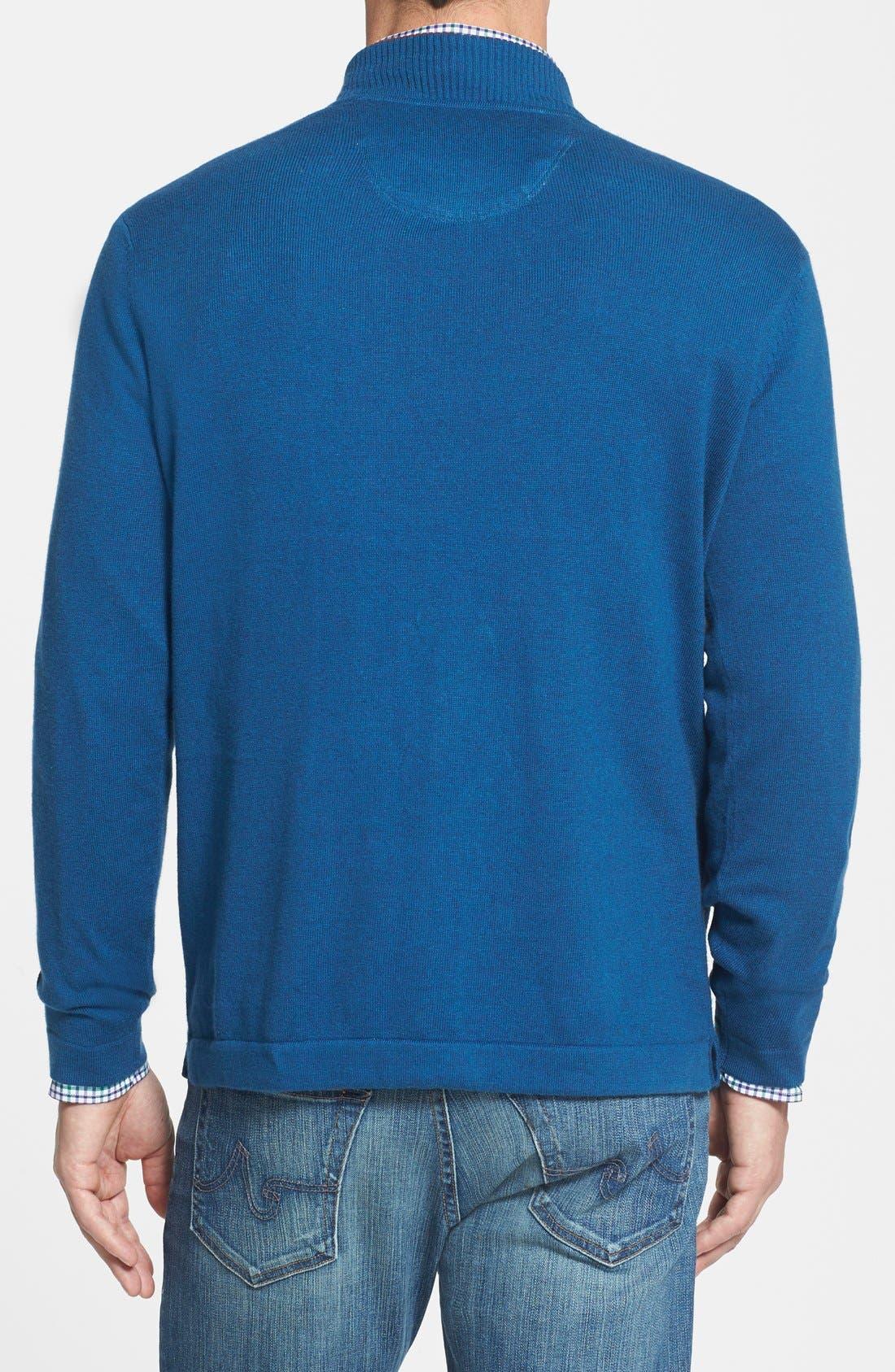 Alternate Image 2  - Tommy Bahama 'Island Luxe' Half Zip Sweatshirt