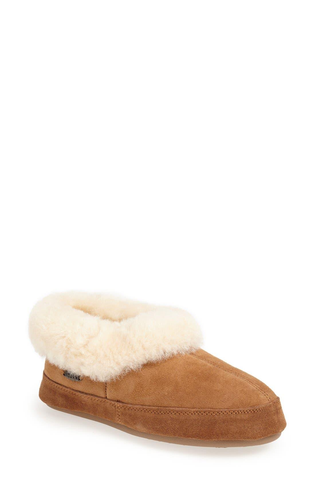 ACORN 'Oh Ewe Ii' Genuine Sheepskin Slipper, Walnut