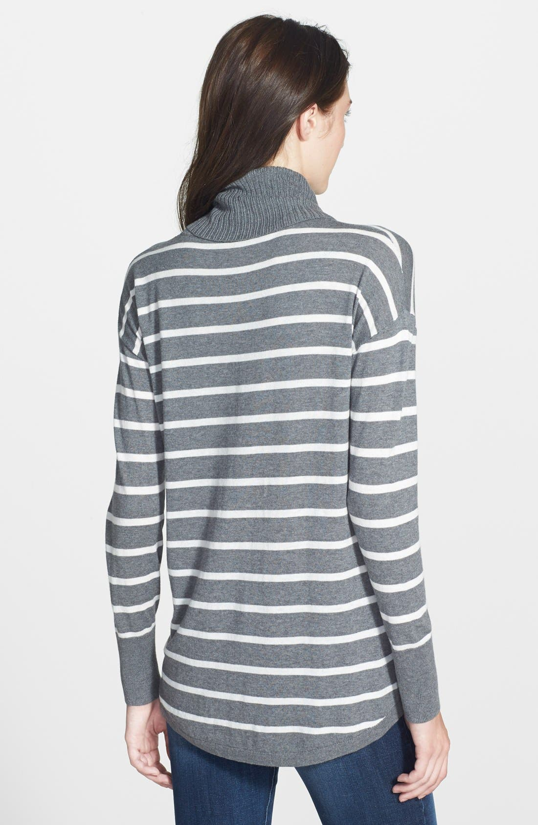 Alternate Image 2  - Halogen® Relaxed Turtleneck Tunic Sweater (Regular & Petite)