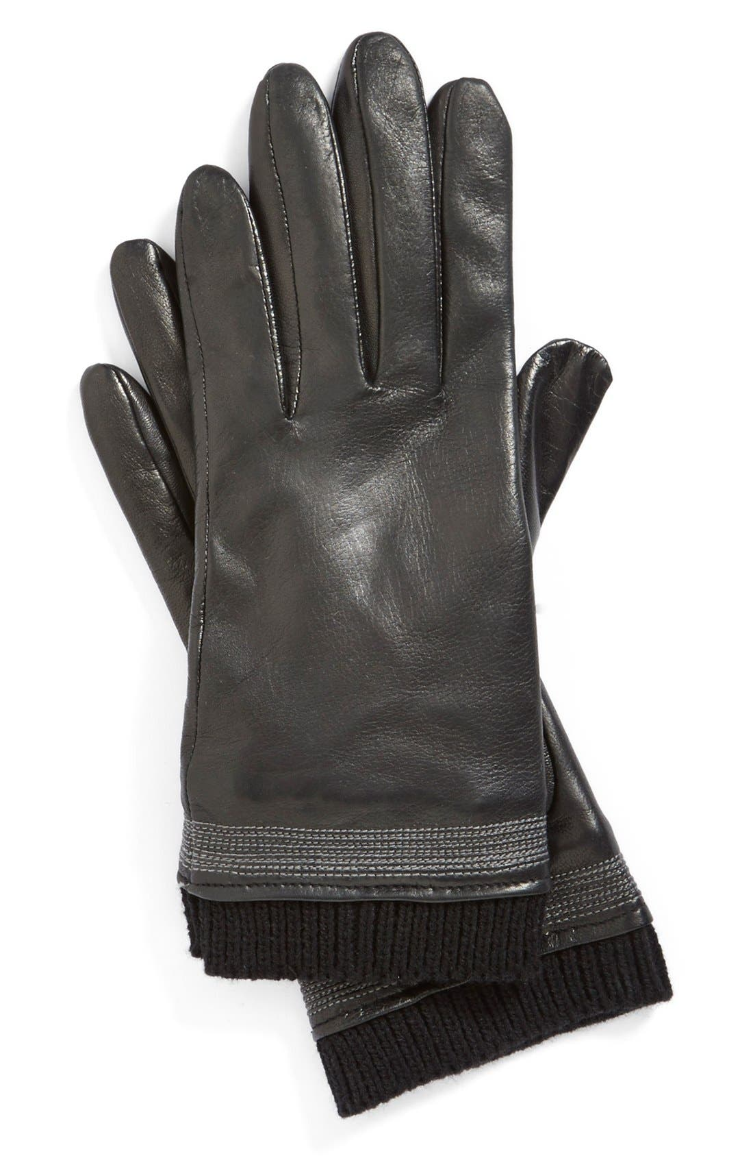 Alternate Image 2  - Fownes Brothers Topstitch Detail Leather Gloves