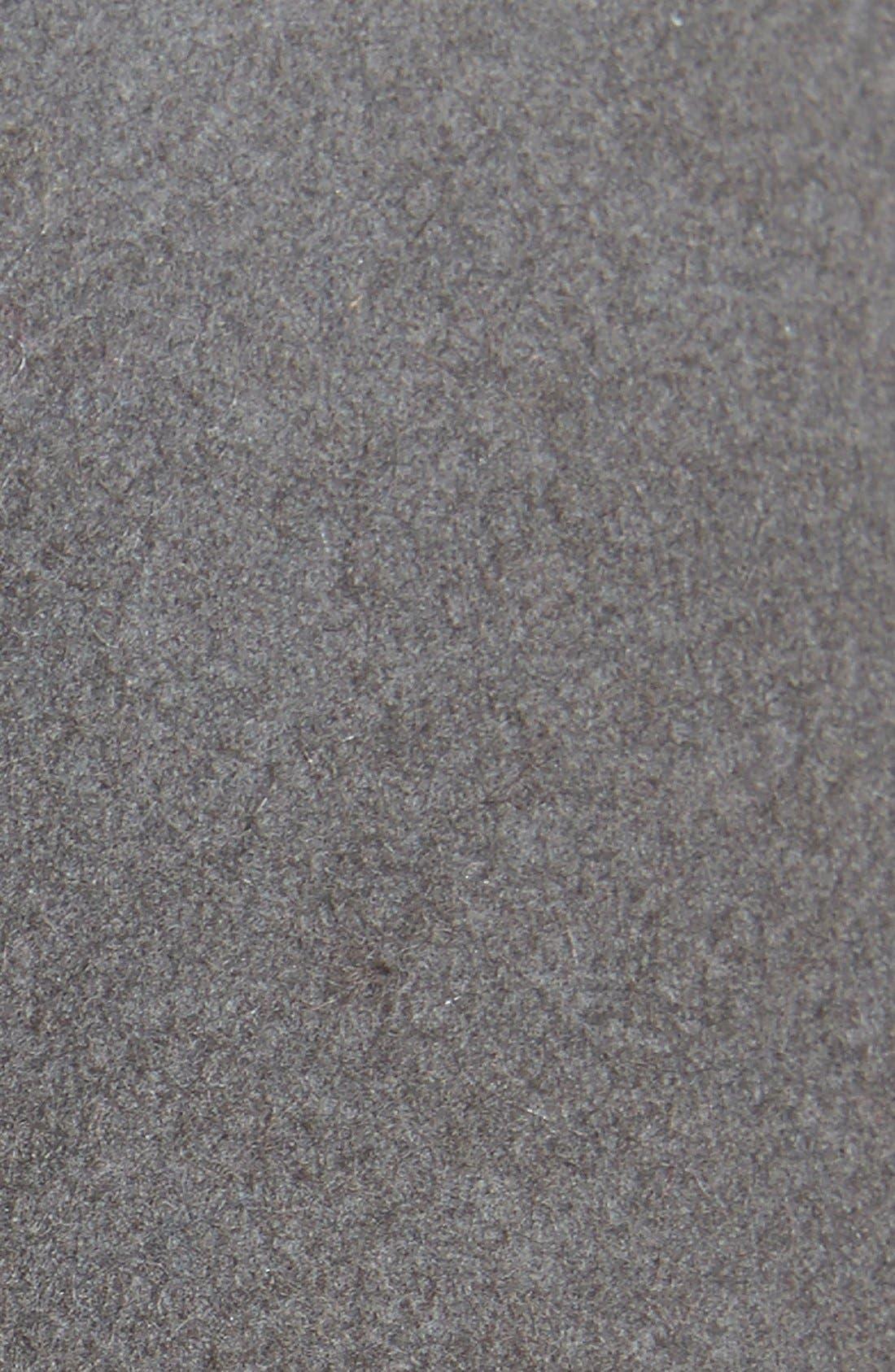 Chain Trim Wool Fedora,                             Alternate thumbnail 2, color,                             Grey