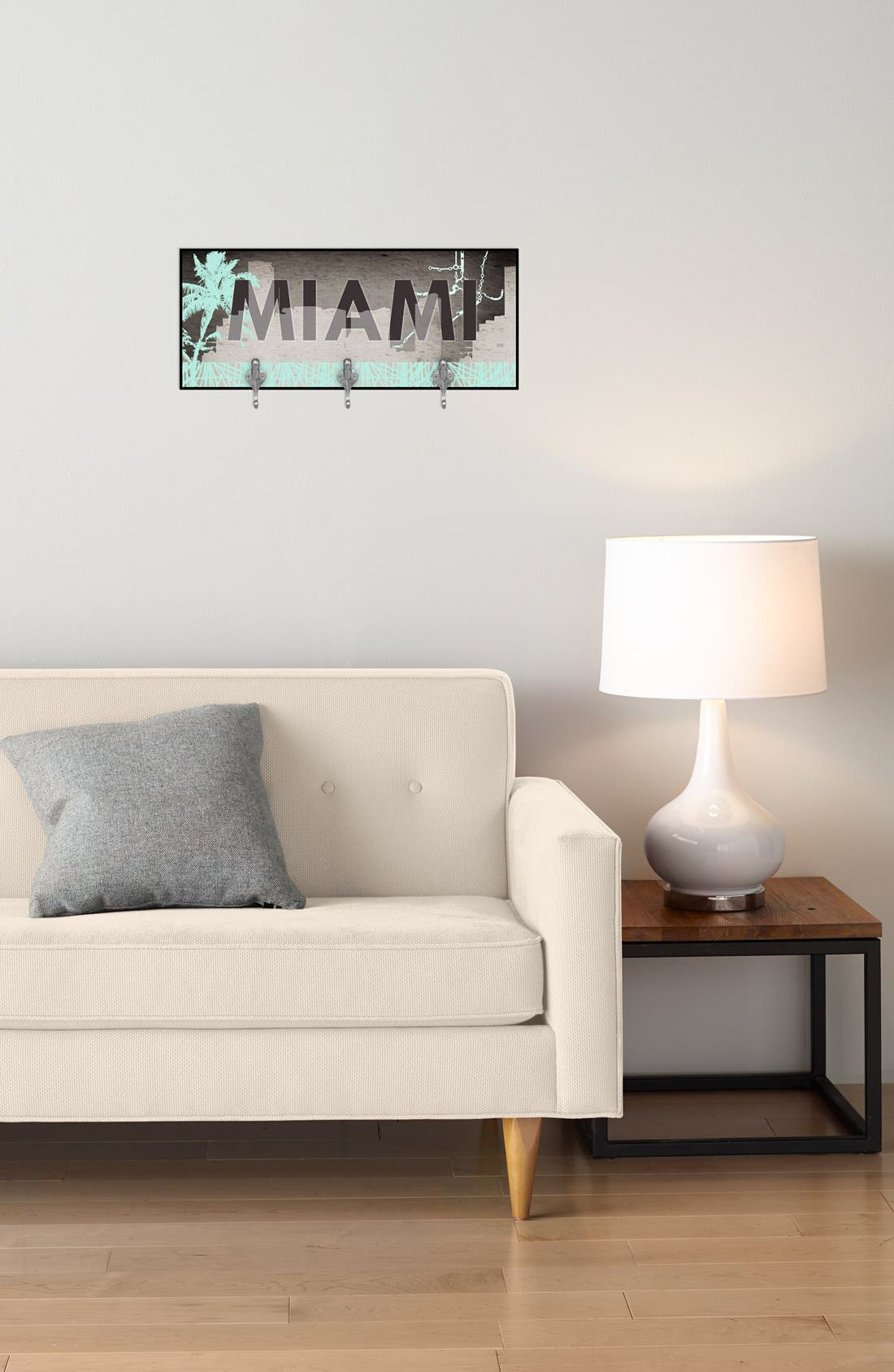 Alternate Image 2  - Green Leaf Art 'Miami' Multi Hook Wall Mount Rack