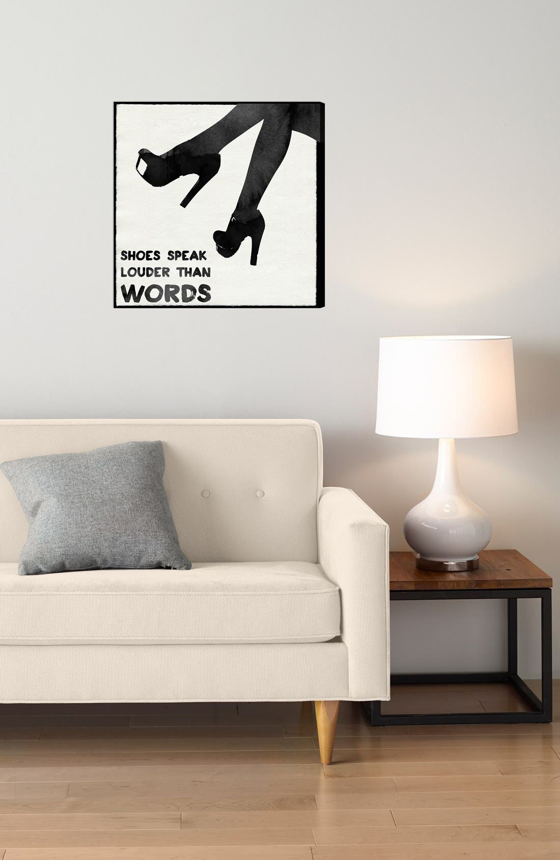 Alternate Image 2  - Oliver Gal 'Shoes Speak Louder than Words' Wall Art