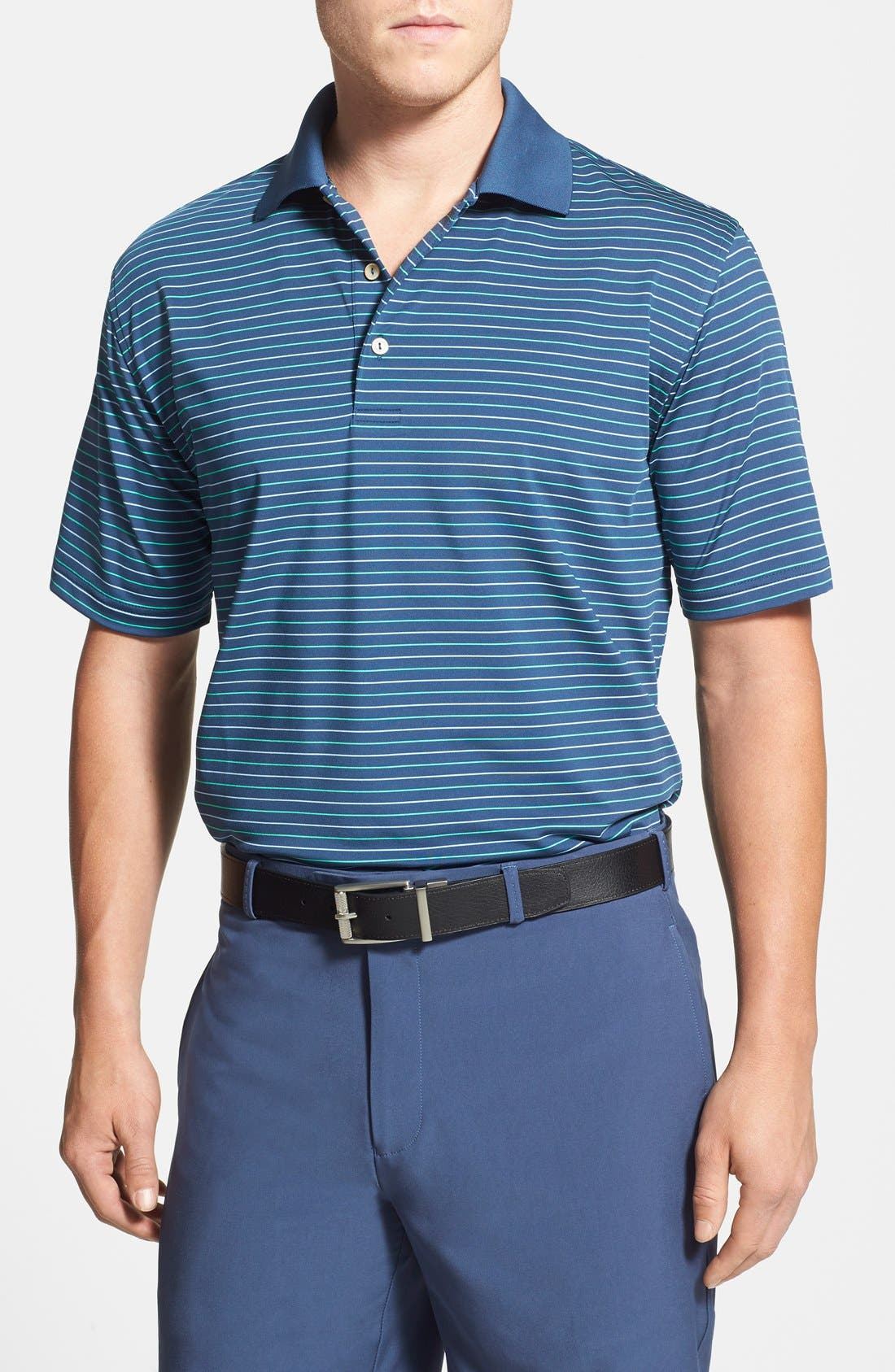 Alternate Image 1 Selected - Peter Millar 'Harnett' Stripe Stretch Jersey Polo