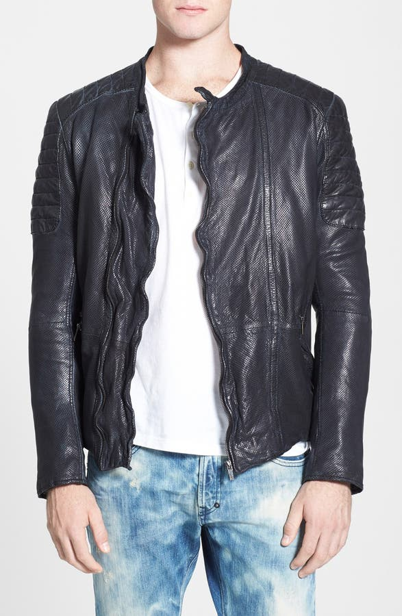 Scotch & Soda Perforated Leather Biker Jacket | Nordstrom : scotch and soda quilted leather jacket - Adamdwight.com