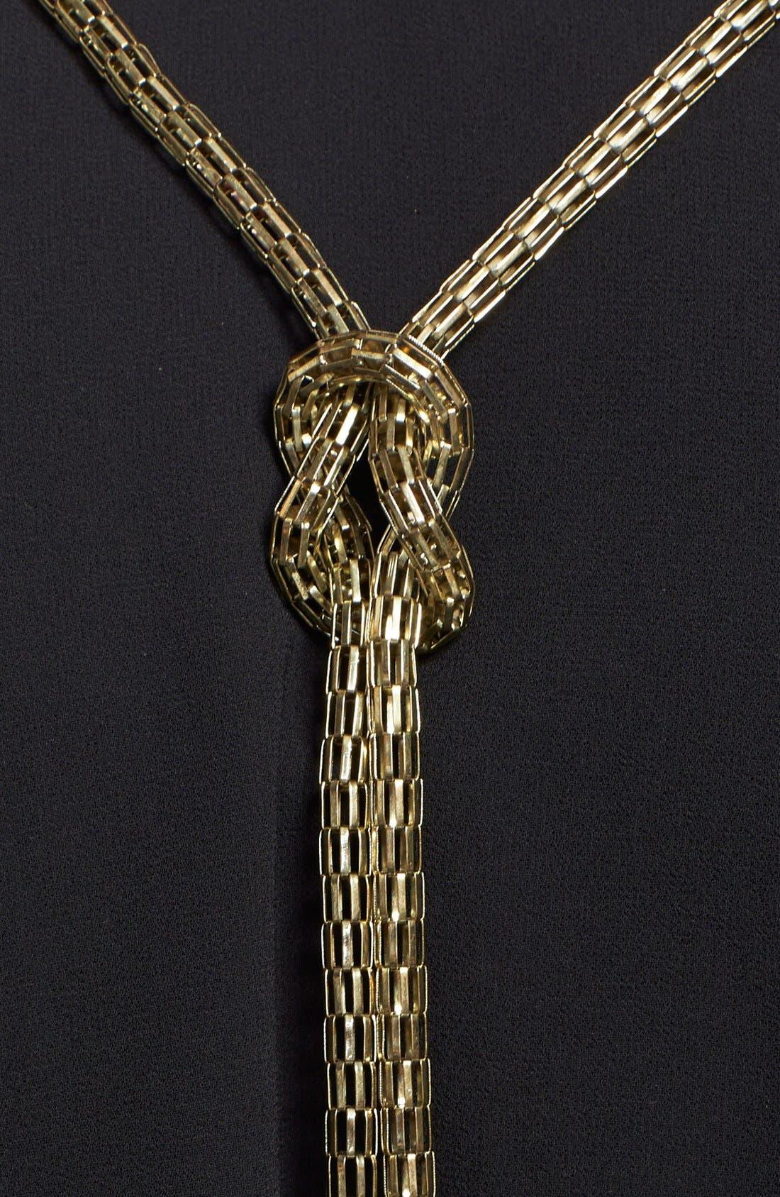 Alternate Image 3  - City Chic Knot Chain Shirt (Plus Size)