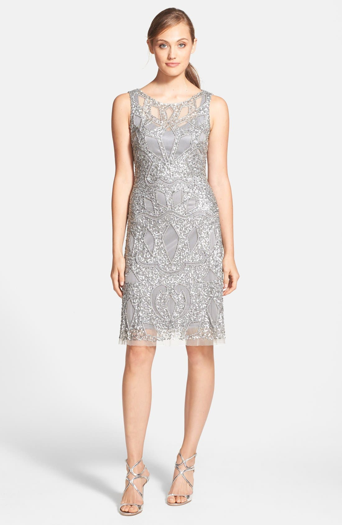 Alternate Image 3  - Aidan Mattox Cutout Bodice Embellished Dress