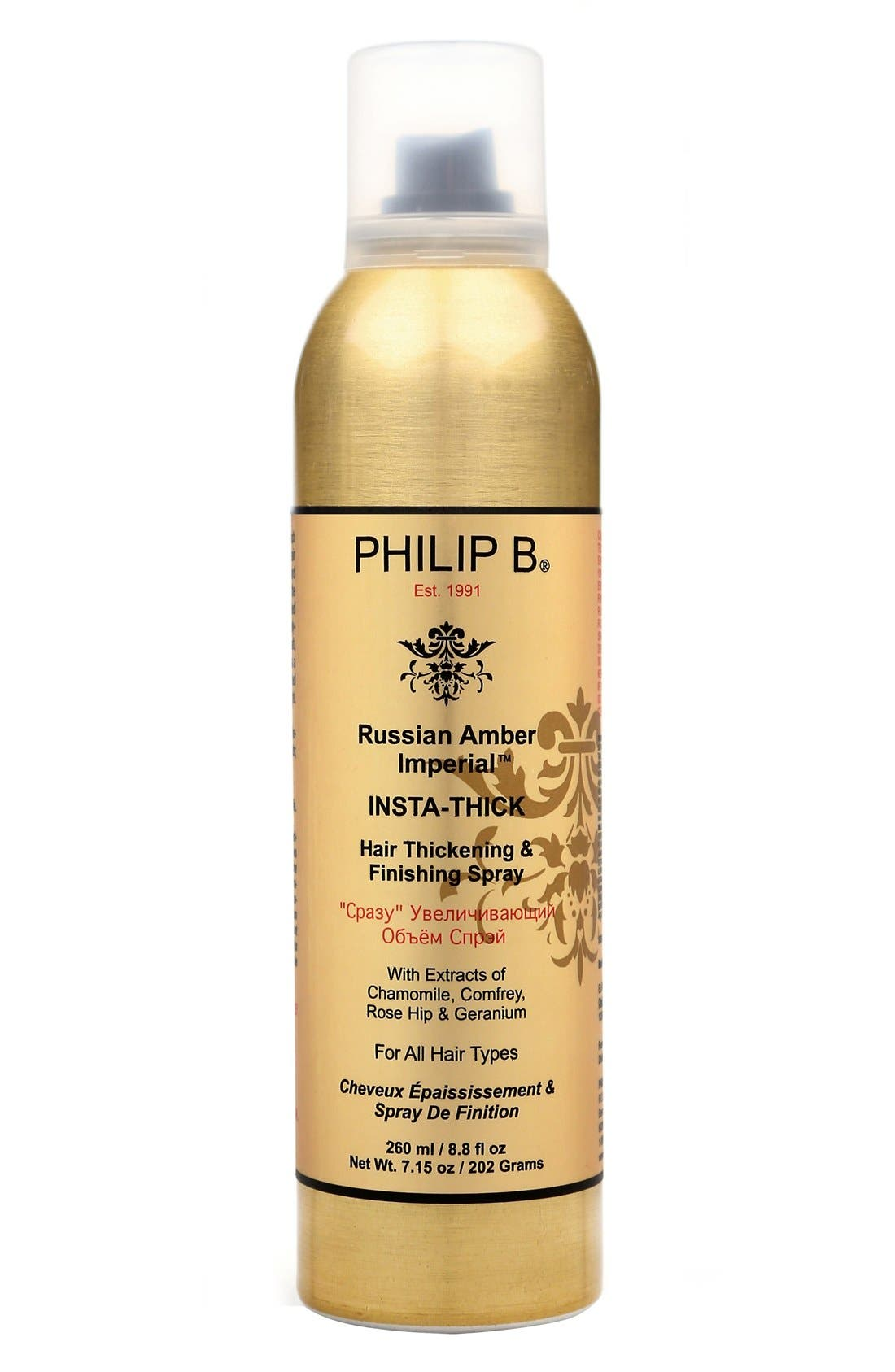SPACE.NK.apothecary PHILIP B® Russian Amber Imperial™ Insta-Thick Hair Thickening Spray