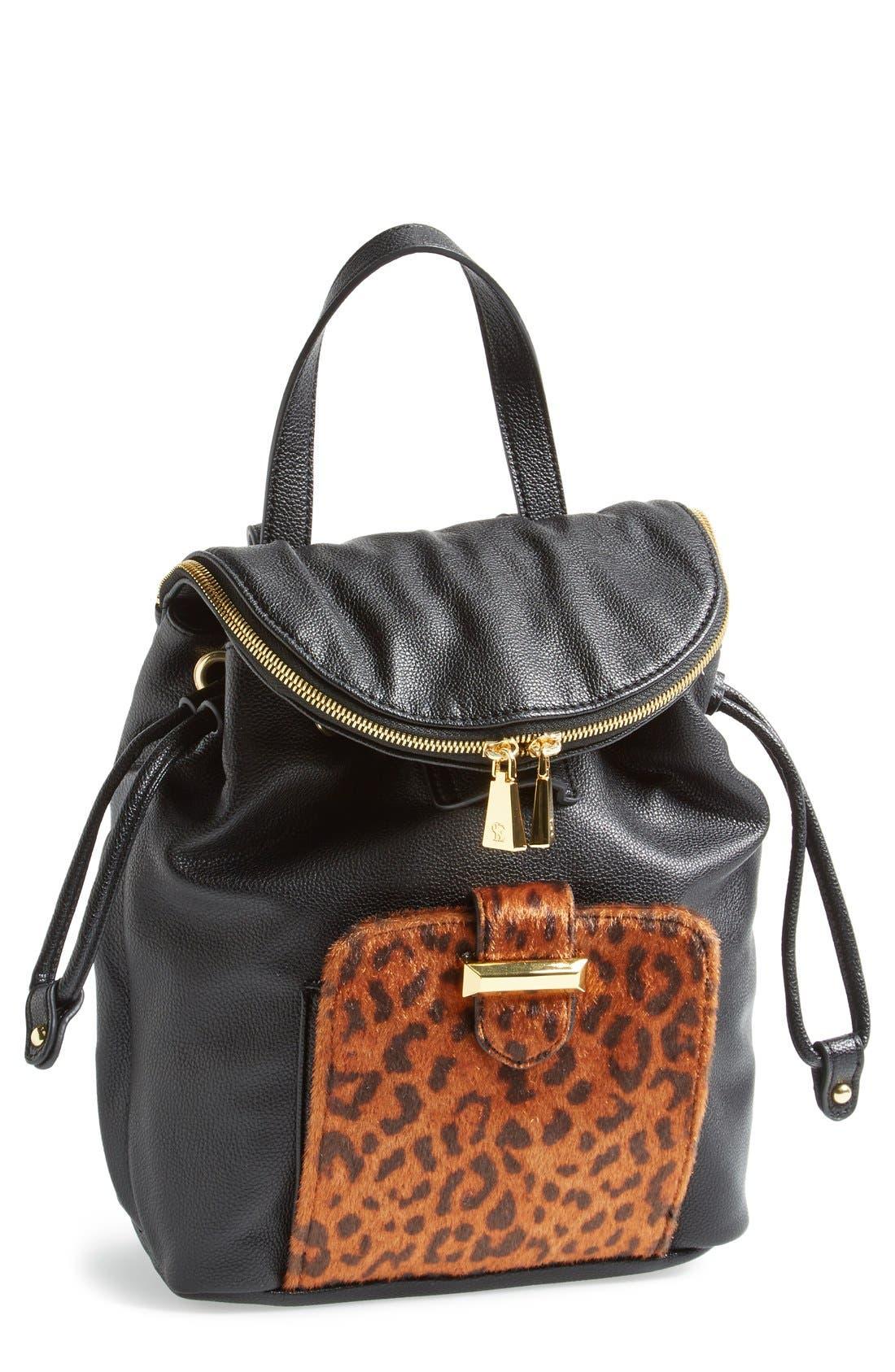 Alternate Image 1 Selected - Snob Essentials Leopard Print Backpack