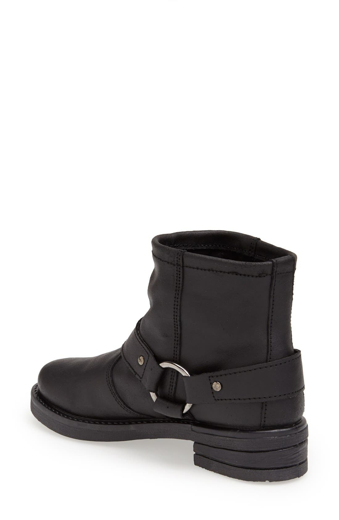 Alternate Image 2  - Topshop 'Buster' Leather Harness Biker Boot (Women)