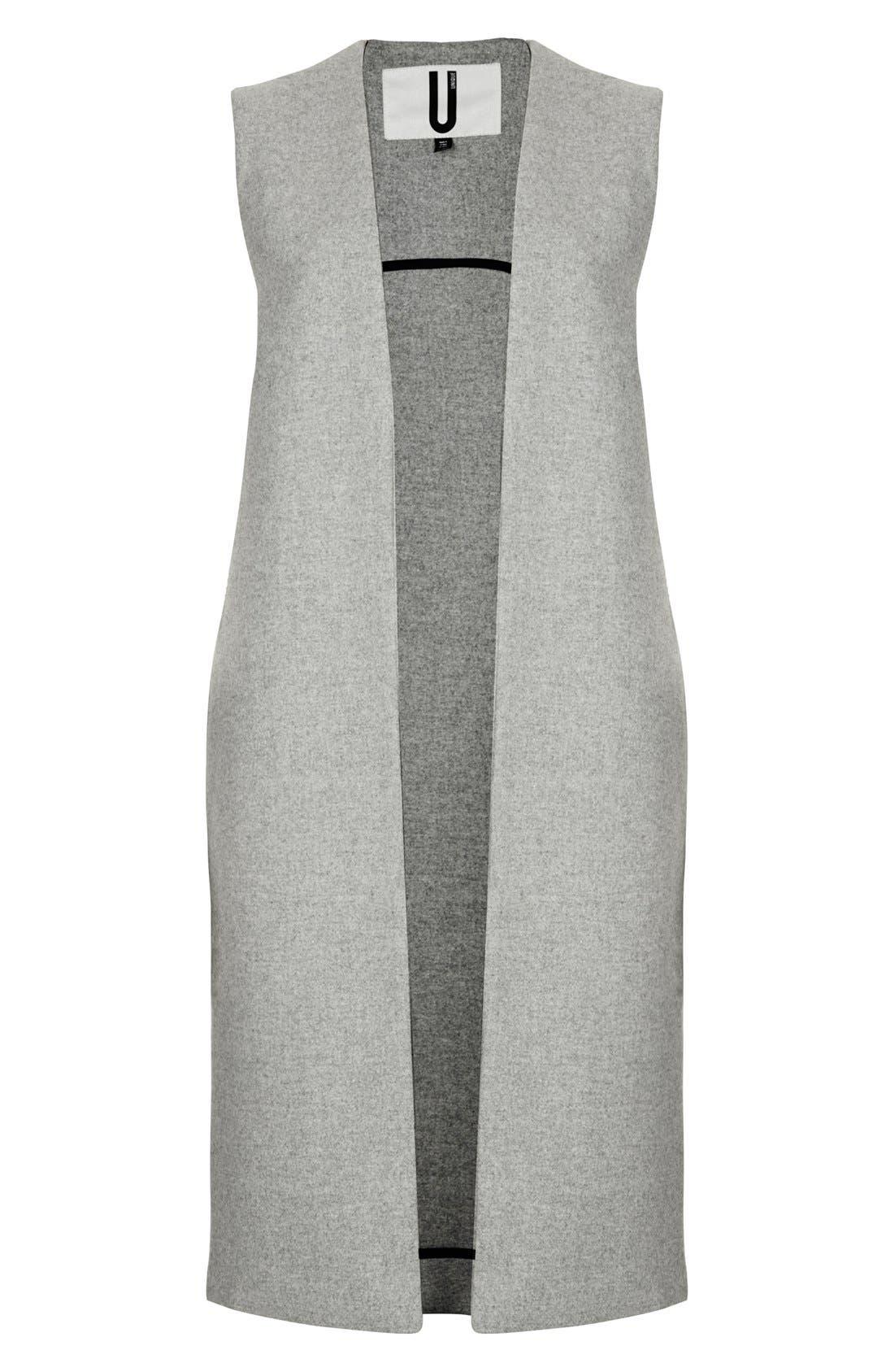 Alternate Image 3  - Topshop Unique Longline Gilet Vest