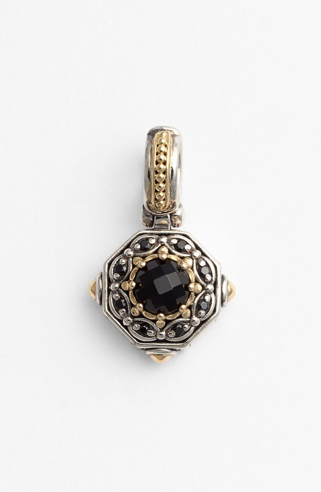 'Hermione' Pendant,                         Main,                         color, Silver/ Black Onyx