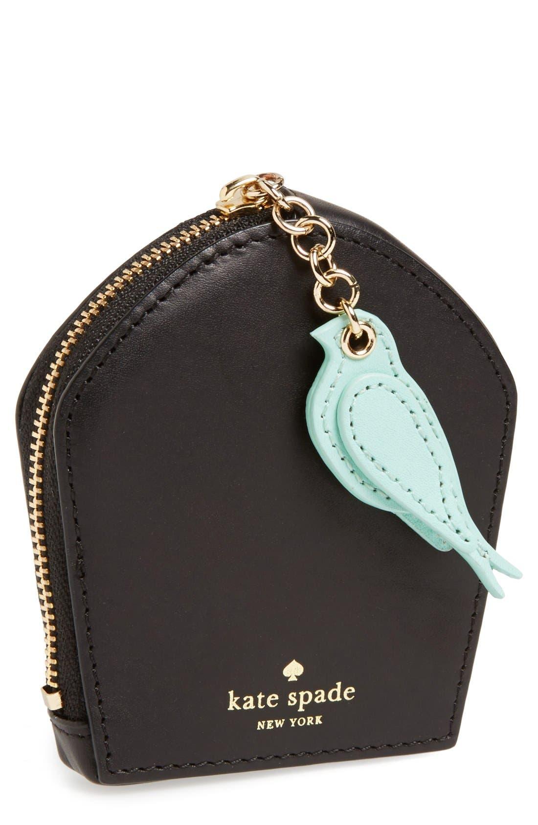 Main Image - kate spade new york 'hello shanghai - birdcage' coin pouch