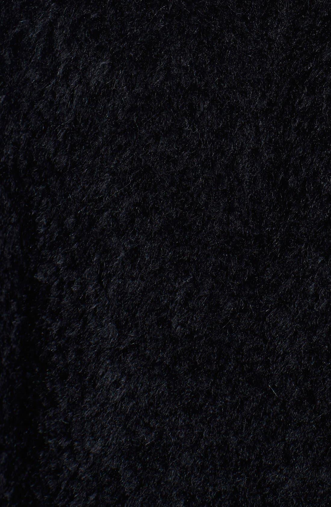Alternate Image 3  - Blue Duck Genuine Fox Fur Trim Wool Blend Cape
