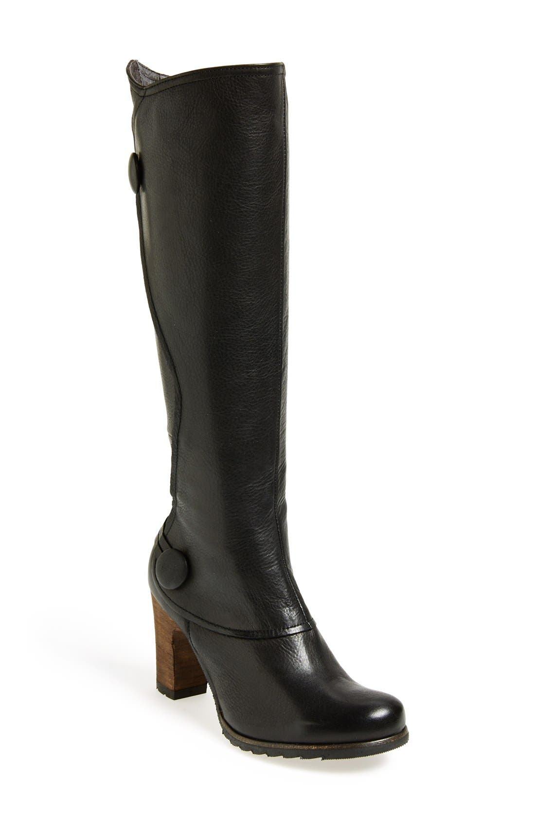 'Nyla' Knee Boot,                             Main thumbnail 1, color,                             Black