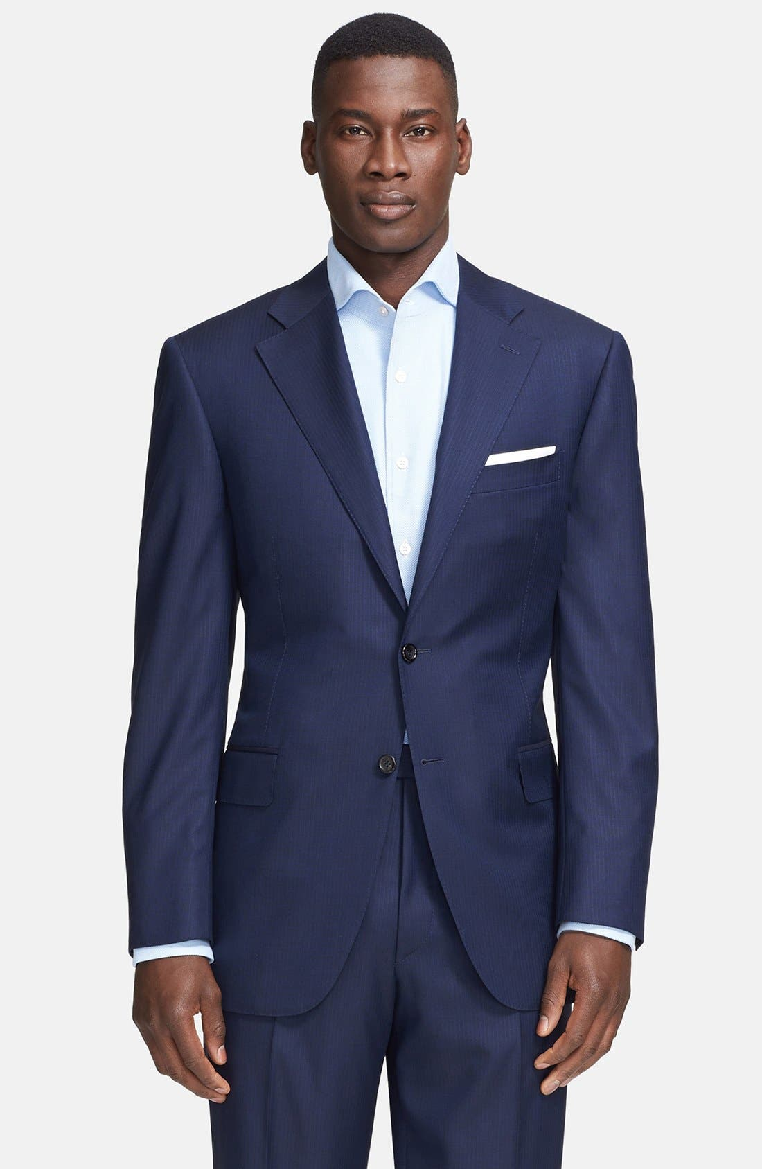 Alternate Image 3  - Canali Classic Fit Wool Suit