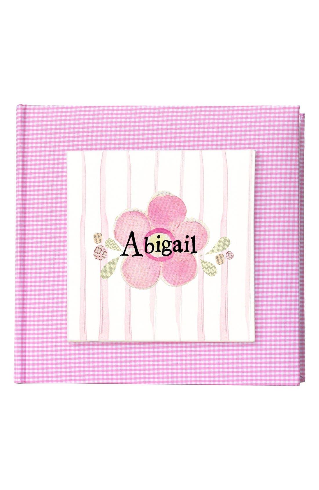 'Flower' Personalized Photo Album,                             Main thumbnail 1, color,                             Pink
