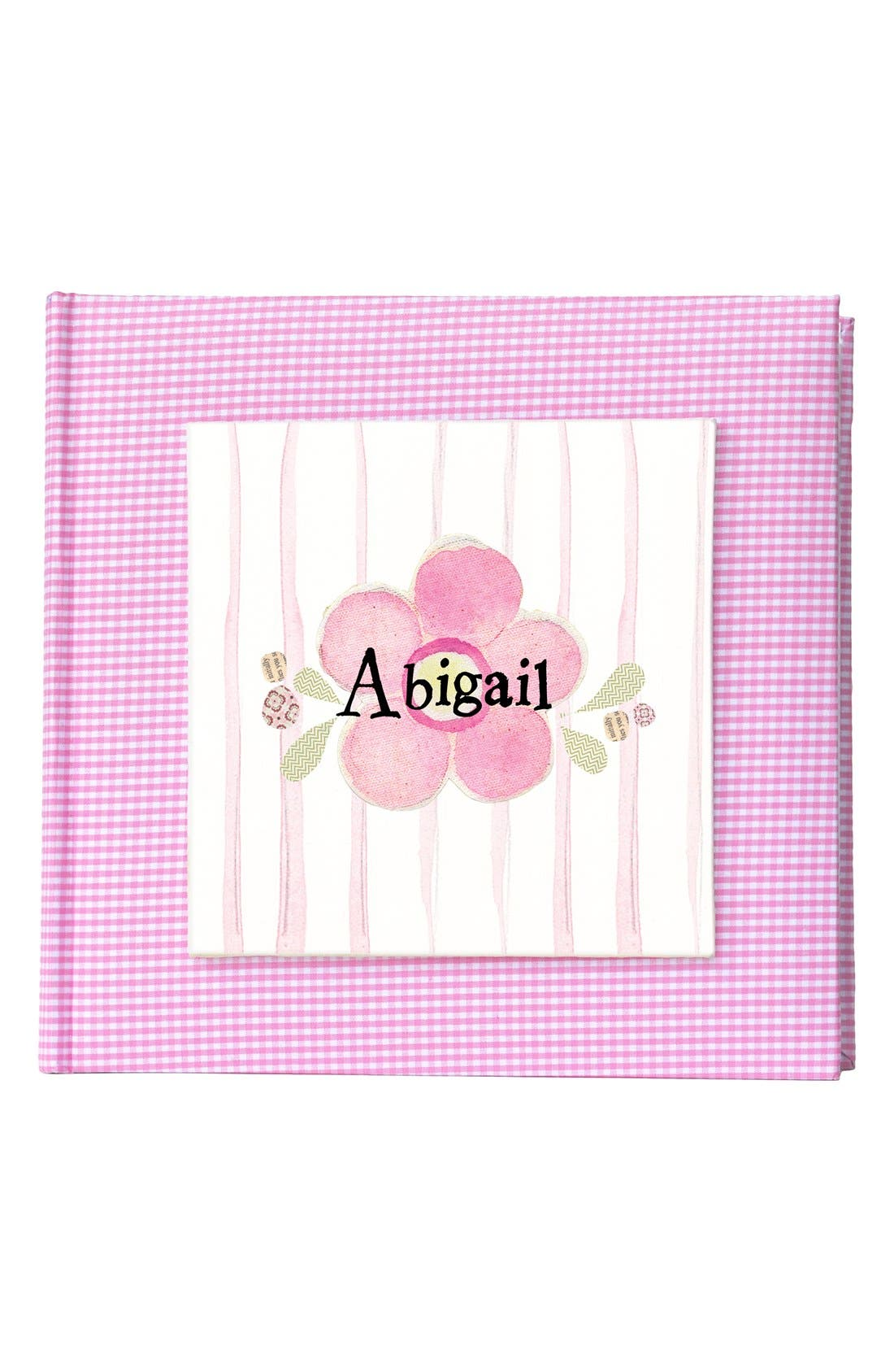 'Flower' Personalized Photo Album,                         Main,                         color, Pink