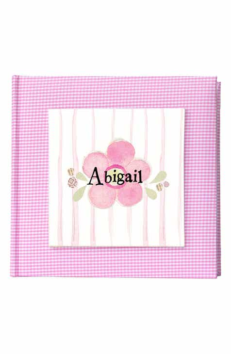 Personalized gifts baby shower gifts nordstrom someday inc flower personalized photo album negle Choice Image