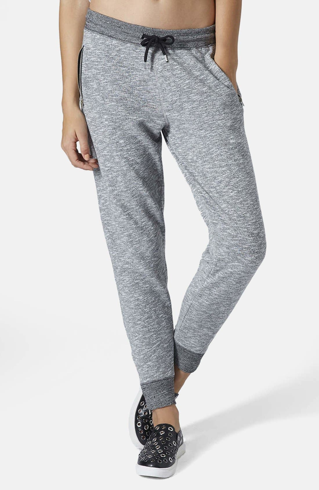 Alternate Image 1 Selected - Topshop Marled Jogger Pants